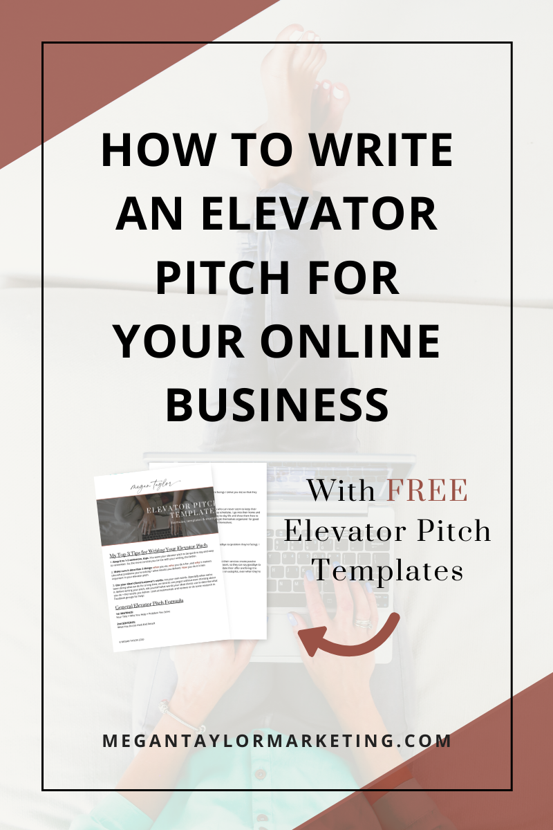 how to write an elevator pitch for your online business